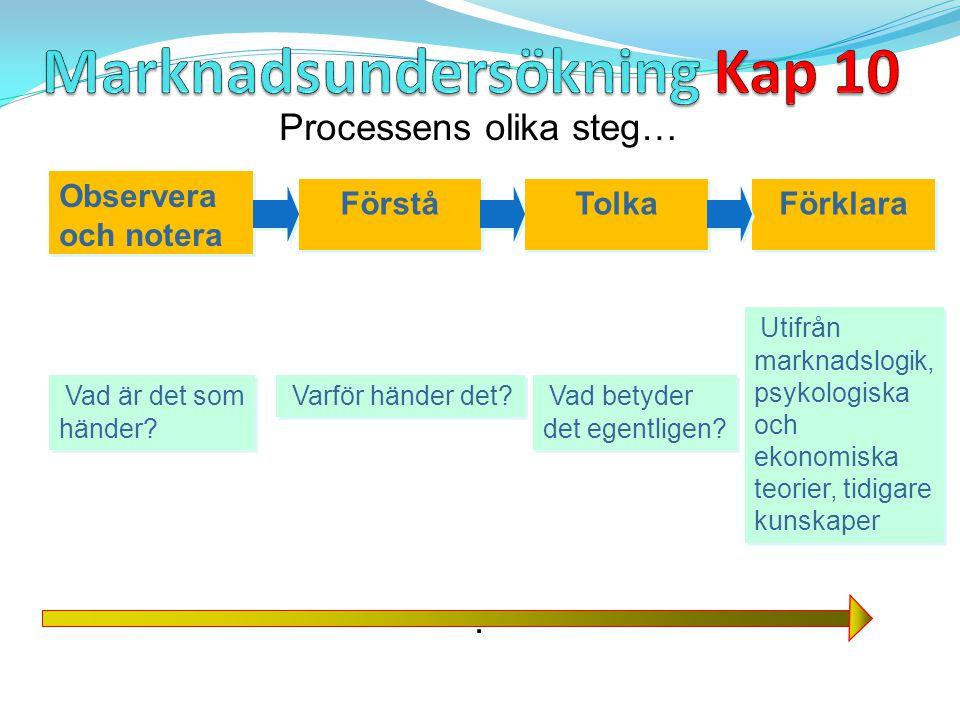 Processens olika steg…. Observera och notera Förstå Tolka Förklara Vad är det som händer? Varför händer det? Vad betyder det egentligen? Utifrån markn