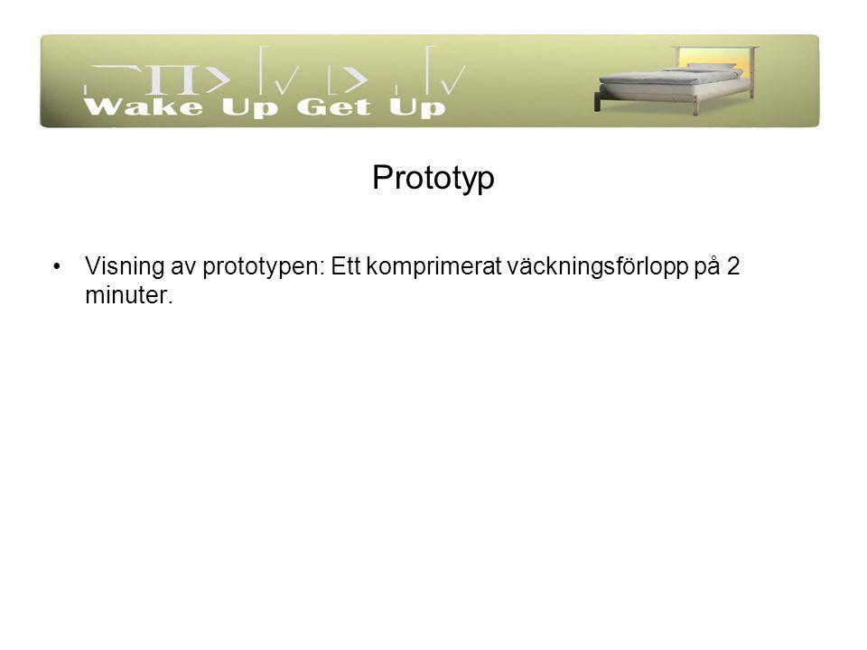 Prototyp Visning av prototypen: Ett komprimerat väckningsförlopp på 2 minuter.