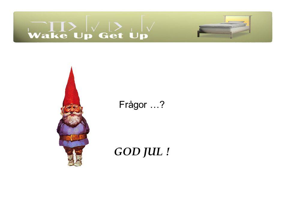 Frågor … GOD JUL !