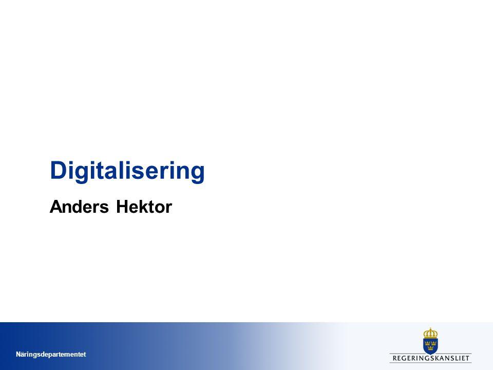 Näringsdepartementet Digitalisering Anders Hektor