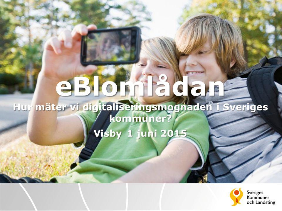 eBlomlådan KSL Kommundirektörerna i Stockholms län enades vid möte i februari 2013 om att genomföra uppföljningen av e- utvecklingen i länet genom att alla kommuner skulle göra en självvärdering med eBlomlådan