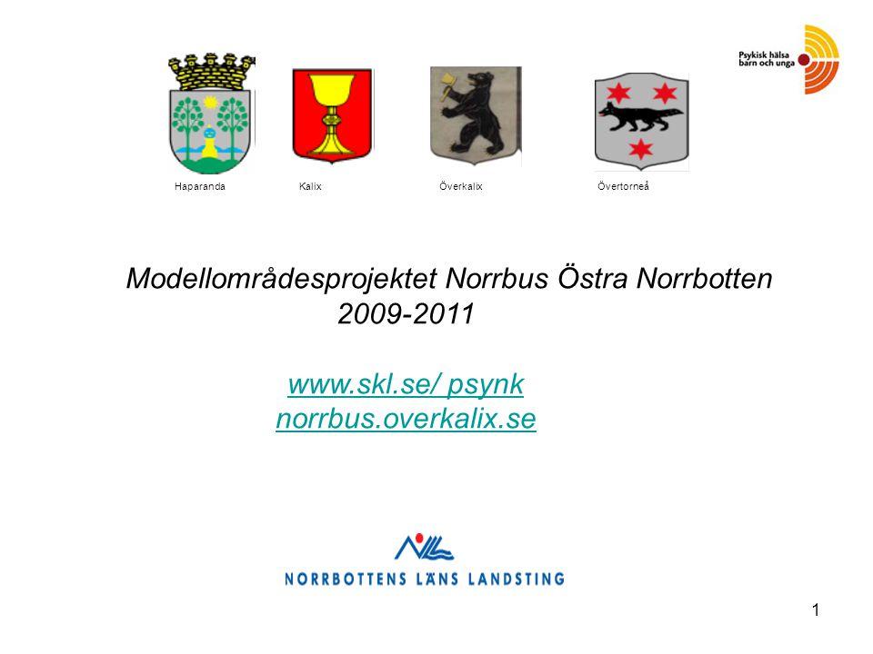 1 Modellområdesprojektet Norrbus Östra Norrbotten 2009-2011 www.skl.se/ psynk norrbus.overkalix.se www.skl.se/ psynk norrbus.overkalix.se Haparanda Kalix ÖverkalixÖvertorneå