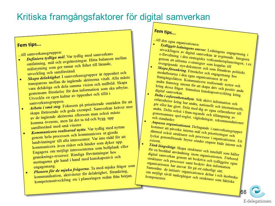 Kritiska framgångsfaktorer för digital samverkan 66