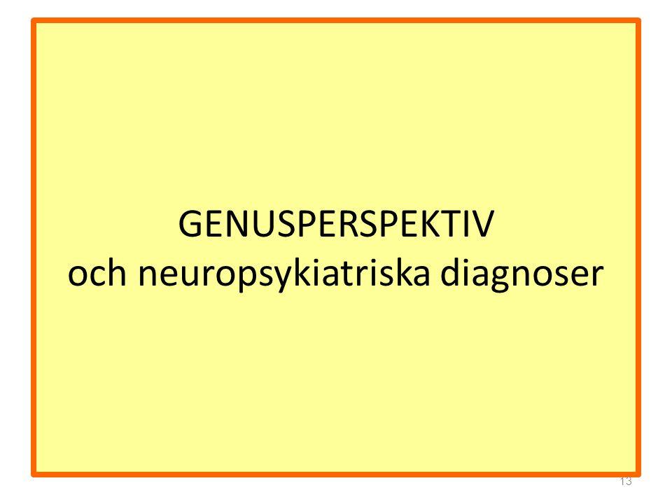 GENUSPERSPEKTIV och neuropsykiatriska diagnoser 13