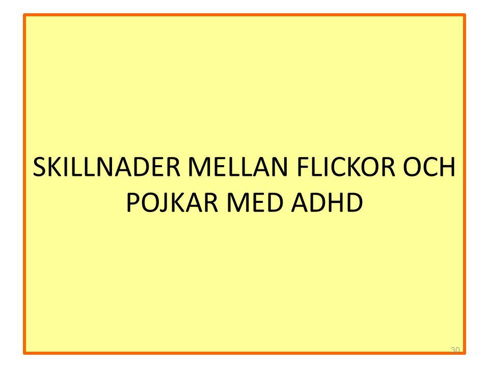 SKILLNADER MELLAN FLICKOR OCH POJKAR MED ADHD 30