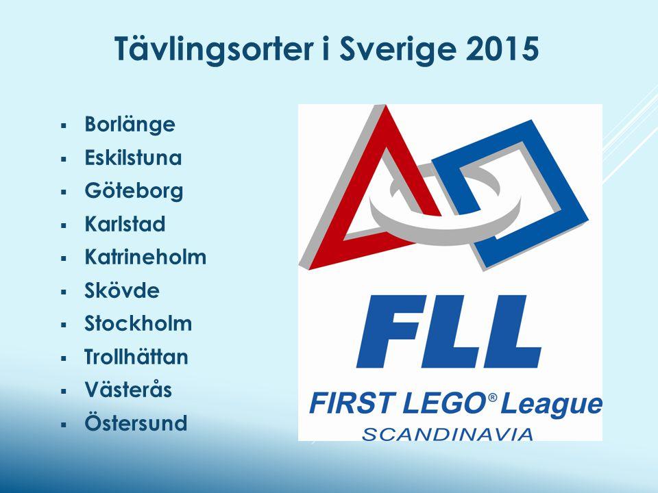 Tävlingsorter i Sverige 2015  Borlänge  Eskilstuna  Göteborg  Karlstad  Katrineholm  Skövde  Stockholm  Trollhättan  Västerås  Östersund