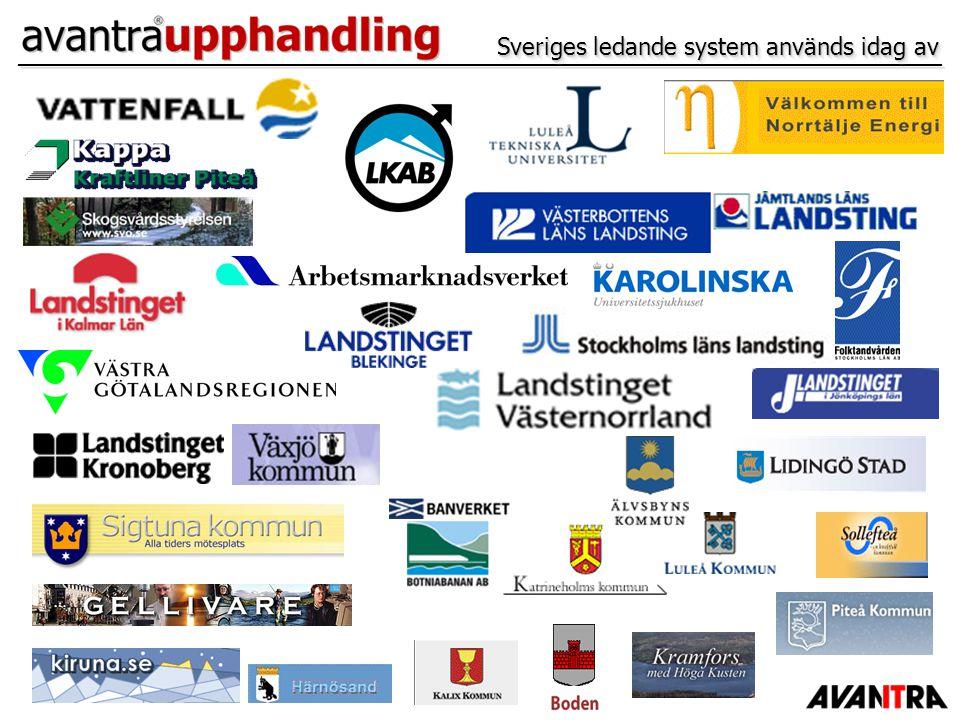 Sveriges ledande system används idag av