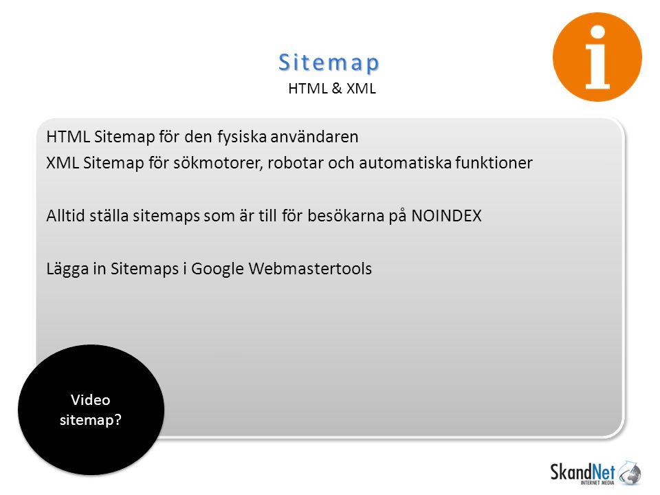 Sitemap HTML & XML Video sitemap