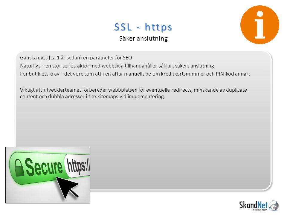 SSL - https Säker anslutning