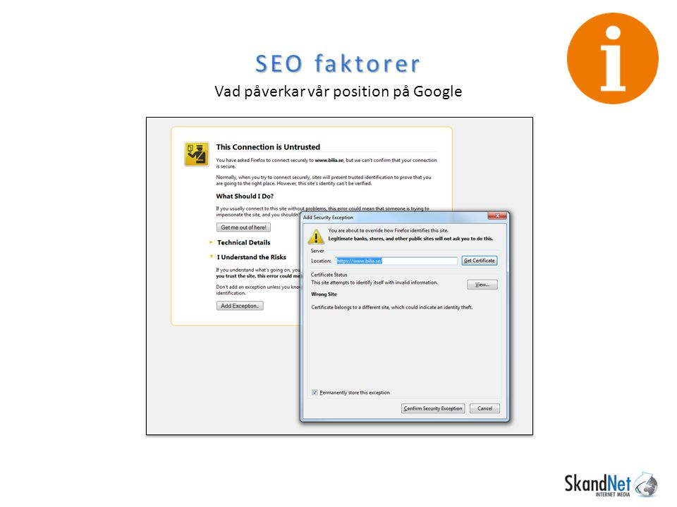 SEO faktorer Vad påverkar vår position på Google