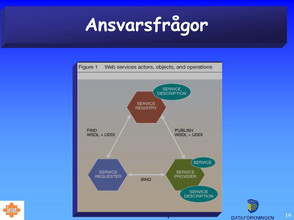 Juridiska aspekter 19 Ansvarsfrågor