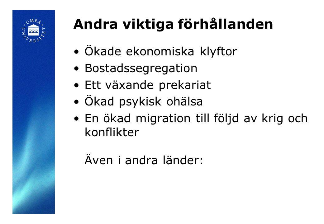 Tre faser i svensk familjepolitik.