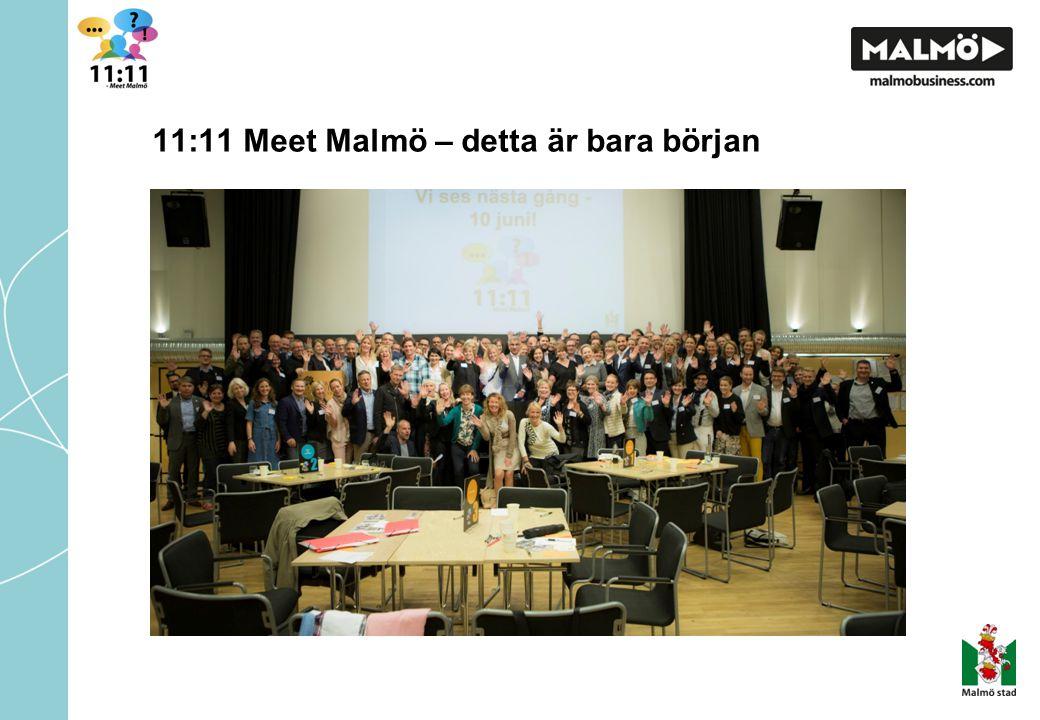 11:11 Meet Malmö – detta är bara början (Bilden på oss alla)