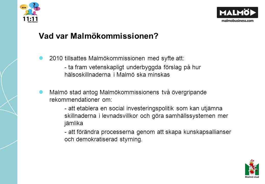 Vad var Malmökommissionen.