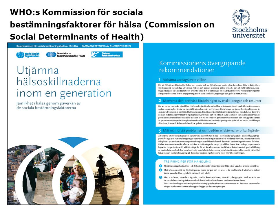 WHO:s Kommission för sociala bestämningsfaktorer för hälsa (Commission on Social Determinants of Health)