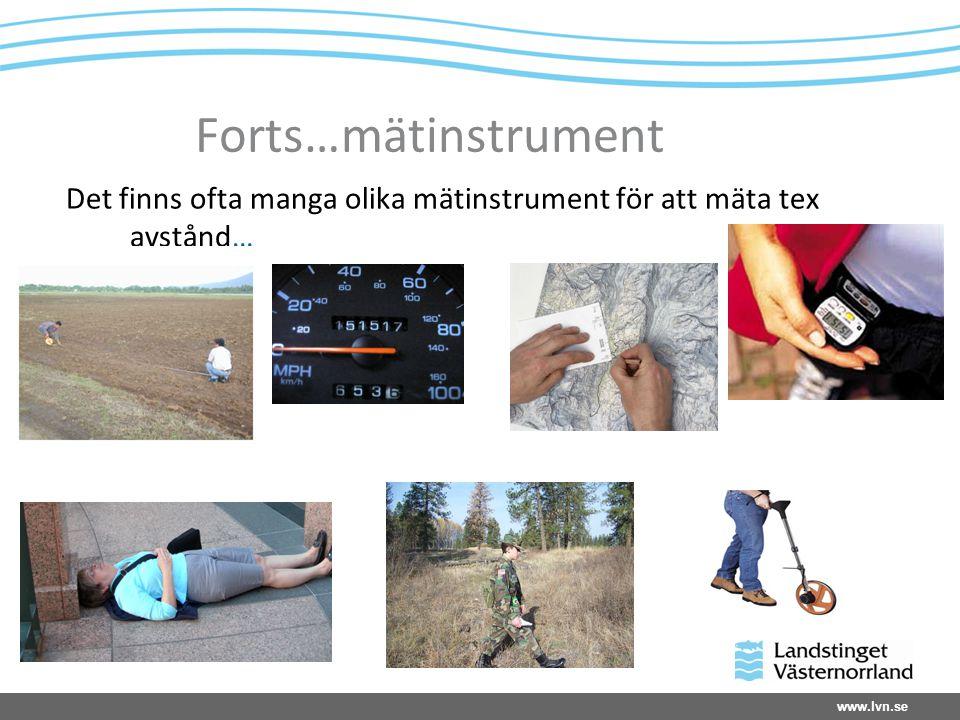 www.lvn.se Forts…mätinstrument Det finns ofta manga olika mätinstrument för att mäta tex avstånd…