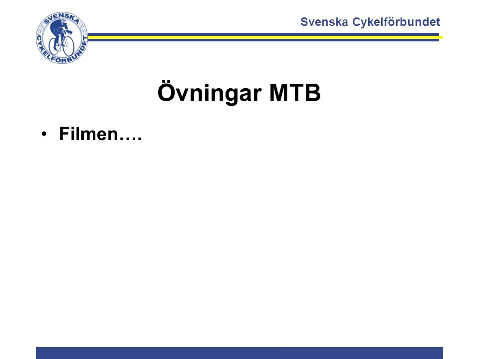 Svenska Cykelförbundet Övningar MTB Filmen….