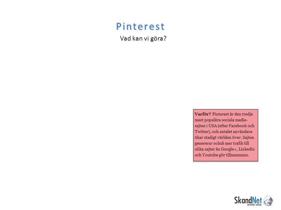Pinterest Vad kan vi göra