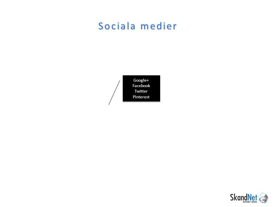 Sociala medier Google+ Facebook Twitter Pinterest Google+ Facebook Twitter Pinterest