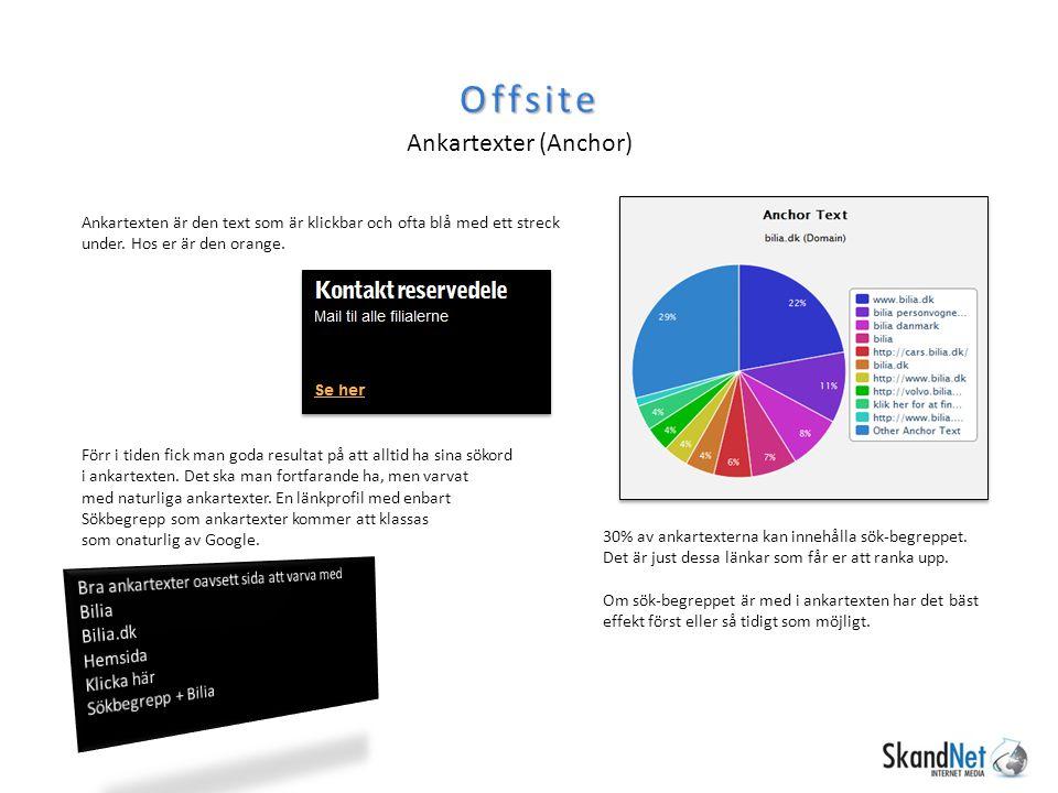 Offsite Länkprofil från MajesticSEO Bilia.se är starkare än.no och.dk