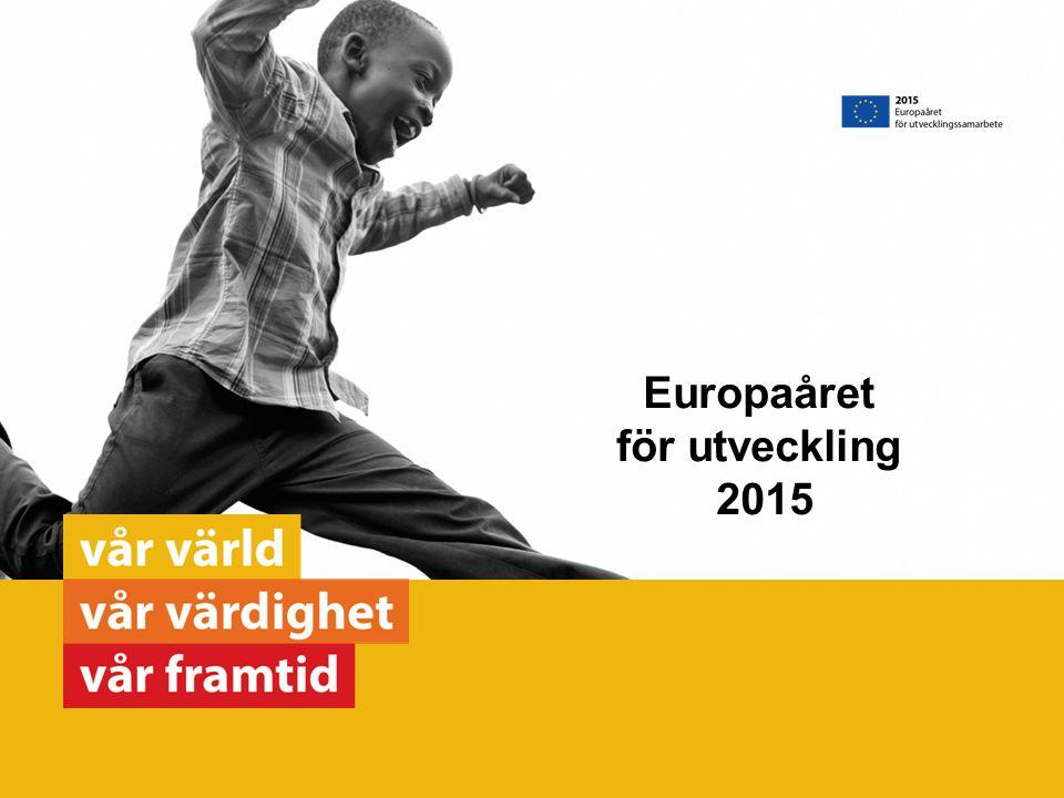 Europaåret för utveckling 2015