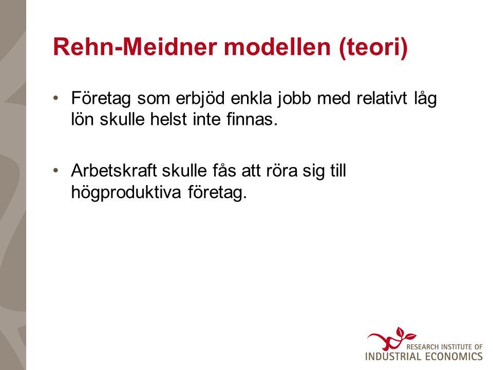 Rehn-Meidner modellen (teori) Företag som erbjöd enkla jobb med relativt låg lön skulle helst inte finnas.