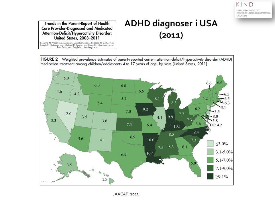 JAACAP, 2013 ADHD diagnoser i USA (2011)