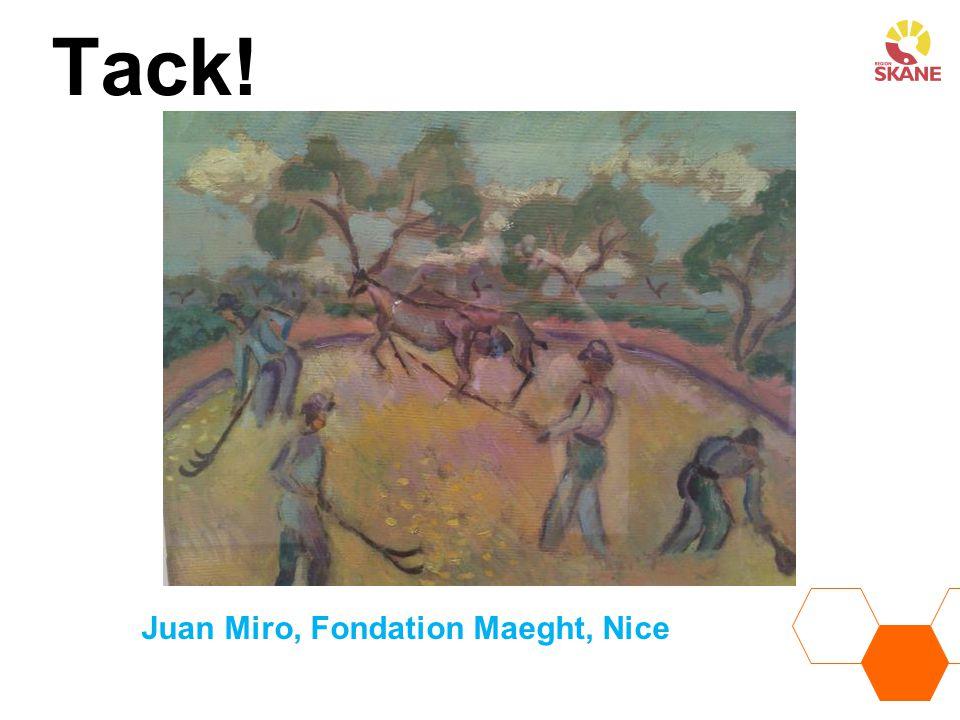 Tack! Juan Miro, Fondation Maeght, Nice