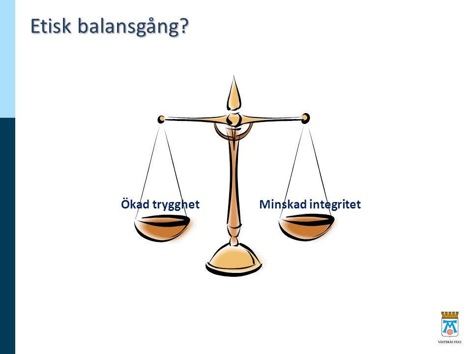 Etisk balansgång Ökad trygghetMinskad integritet