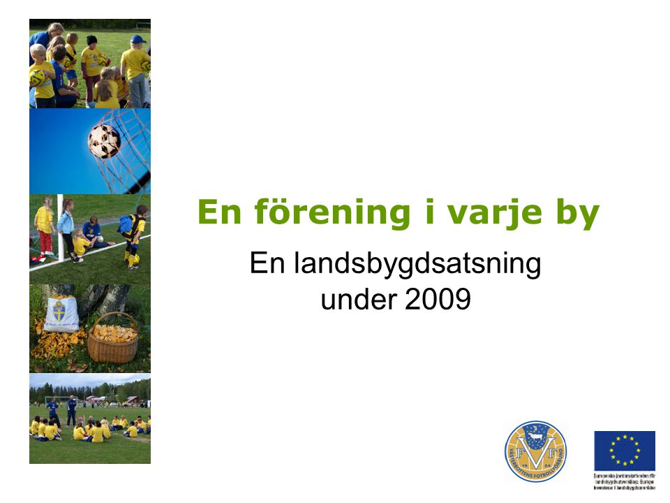 En förening i varje by En landsbygdsatsning under 2009
