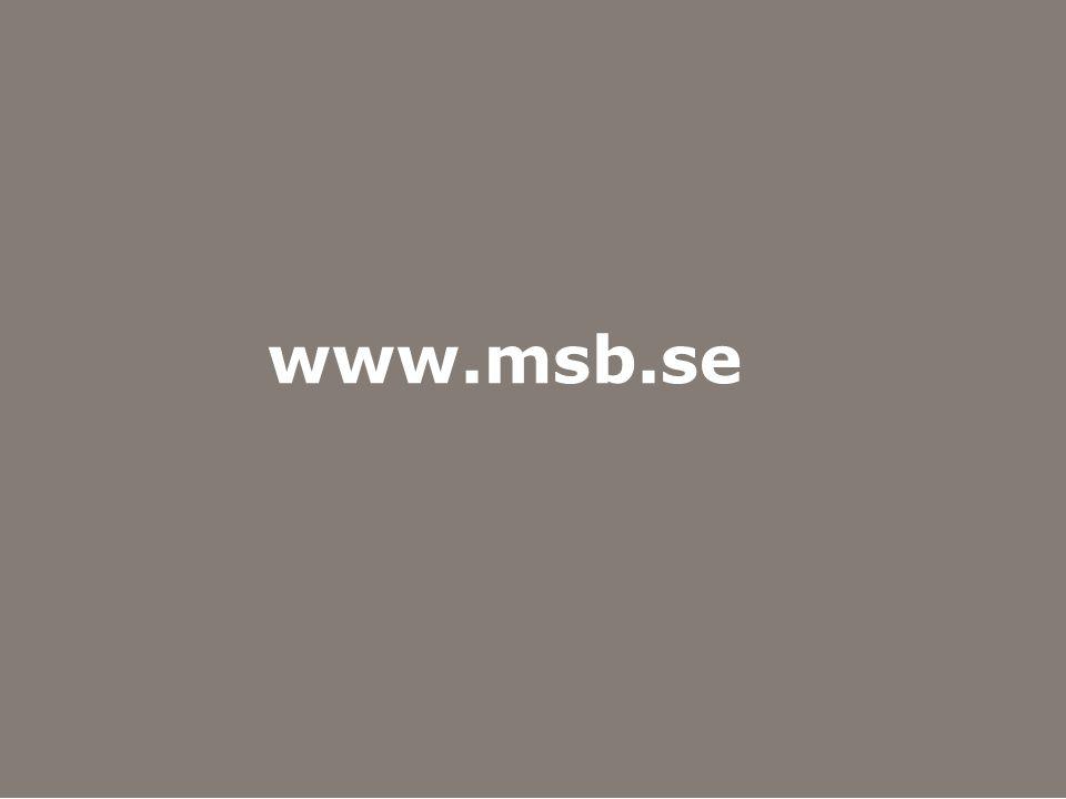 Myndigheten för samhällsskydd och beredskap www.msb.se