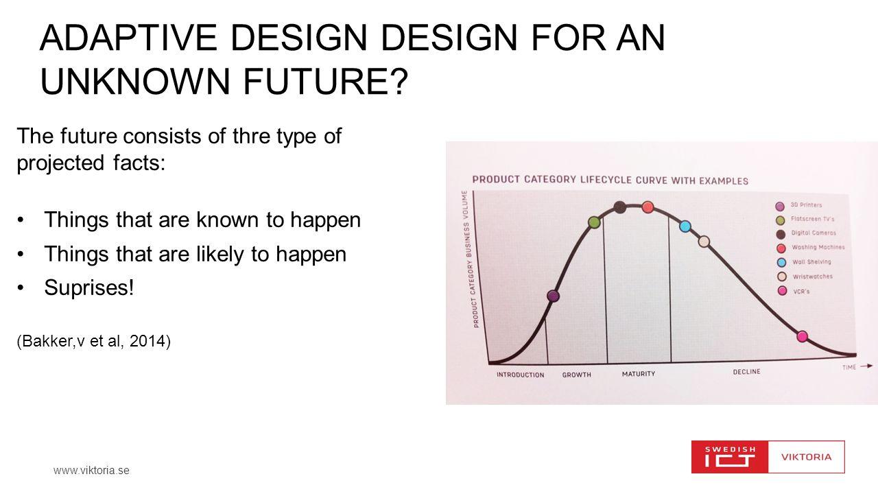 www.viktoria.se ADAPTIVE DESIGN DESIGN FOR AN UNKNOWN FUTURE.