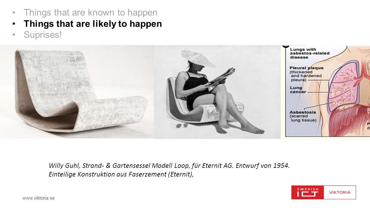 www.viktoria.se Willy Guhl, Strand- & Gartensessel Modell Loop, für Eternit AG. Entwurf von 1954. Einteilige Konstruktion aus Faserzement (Eternit), T