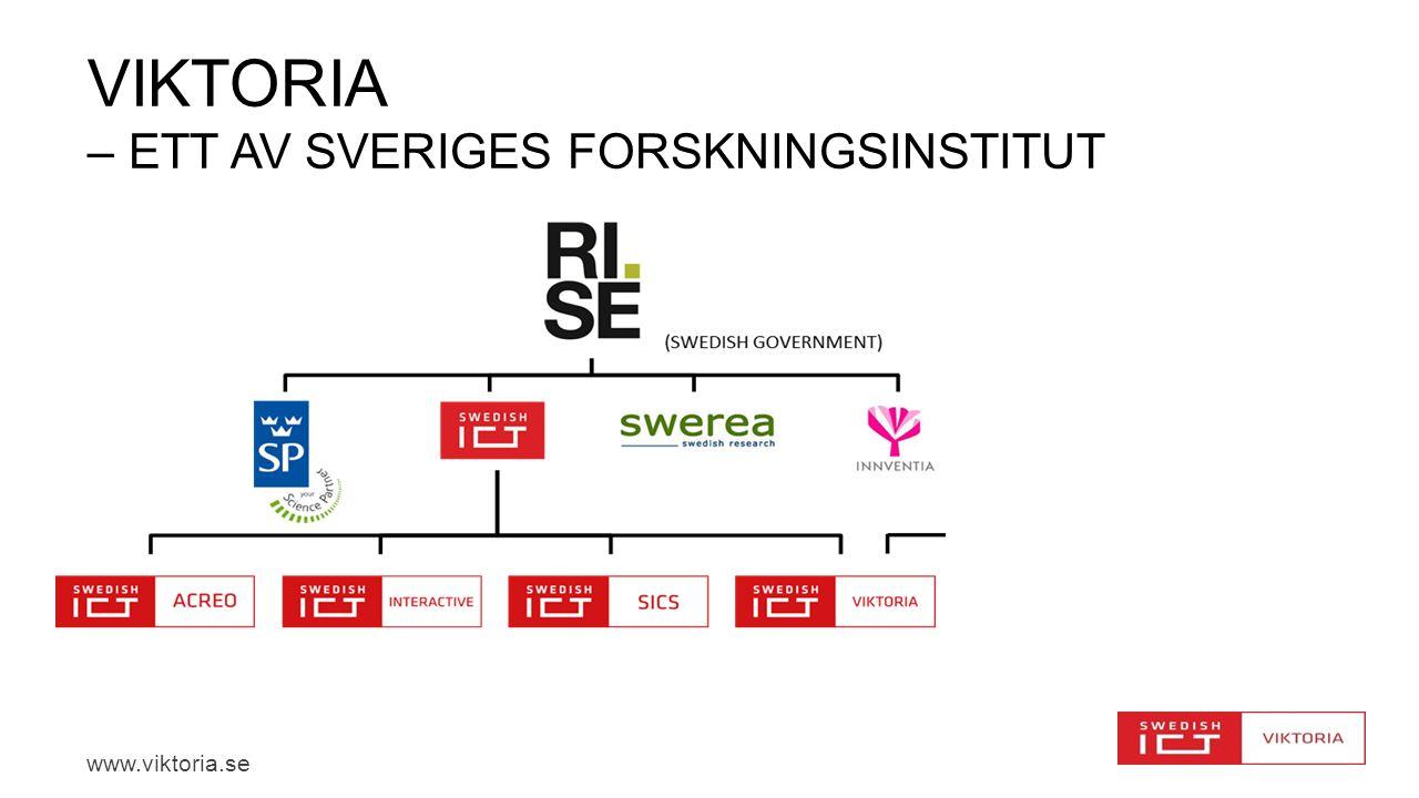 www.viktoria.se VIKTORIA – ETT AV SVERIGES FORSKNINGSINSTITUT
