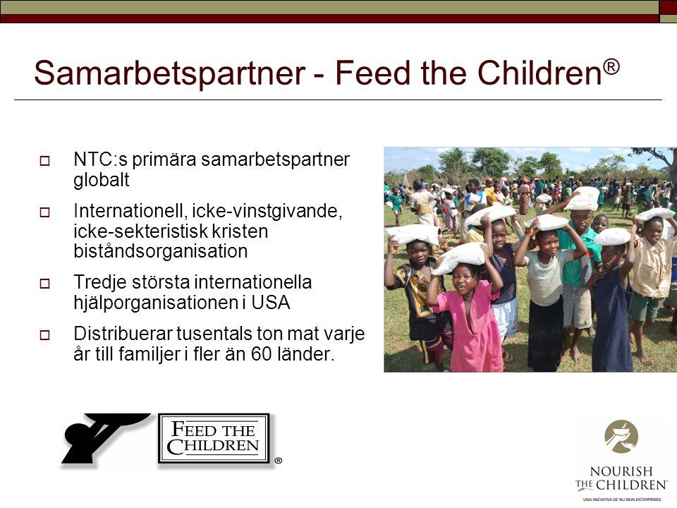 Samarbetspartner - Feed the Children ®  NTC:s primära samarbetspartner globalt  Internationell, icke-vinstgivande, icke-sekteristisk kristen bistånd