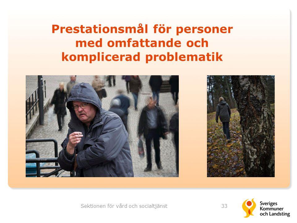Prestationsmål för personer med omfattande och komplicerad problematik Sektionen för vård och socialtjänst33