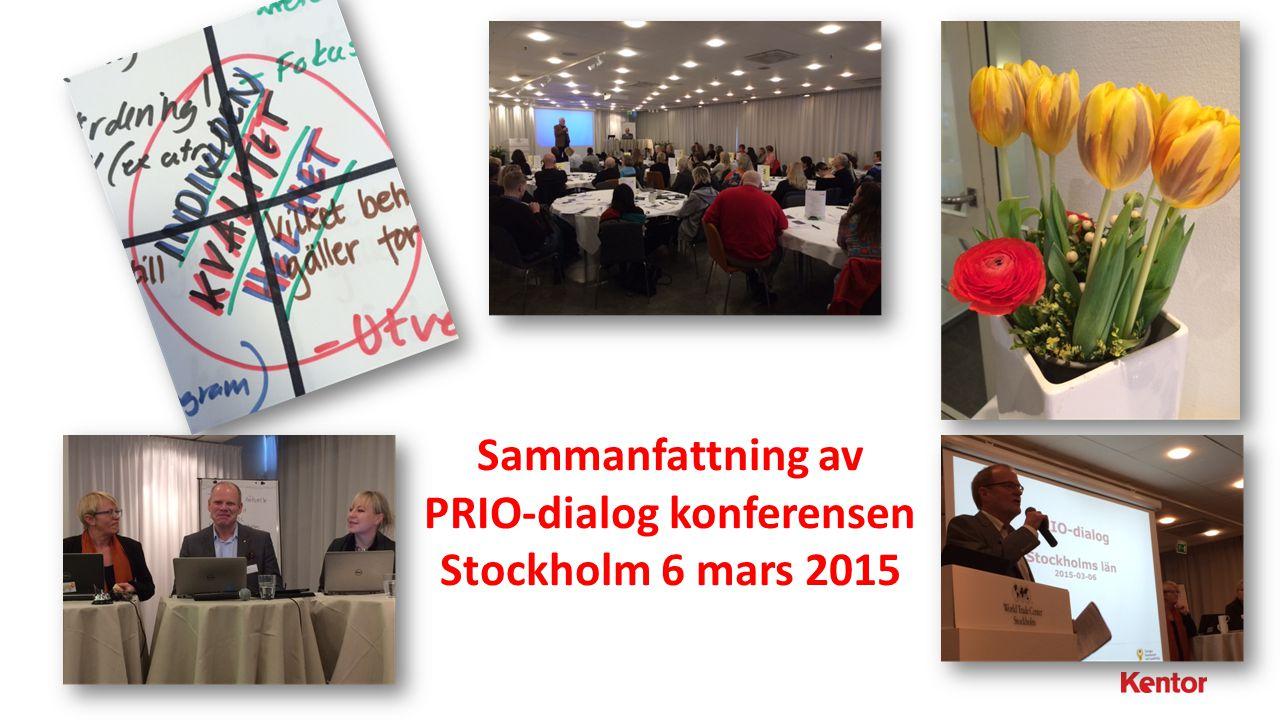 BILD 1 | Katarina Andersson Sammanfattning av PRIO-dialog konferensen Stockholm 6 mars 2015