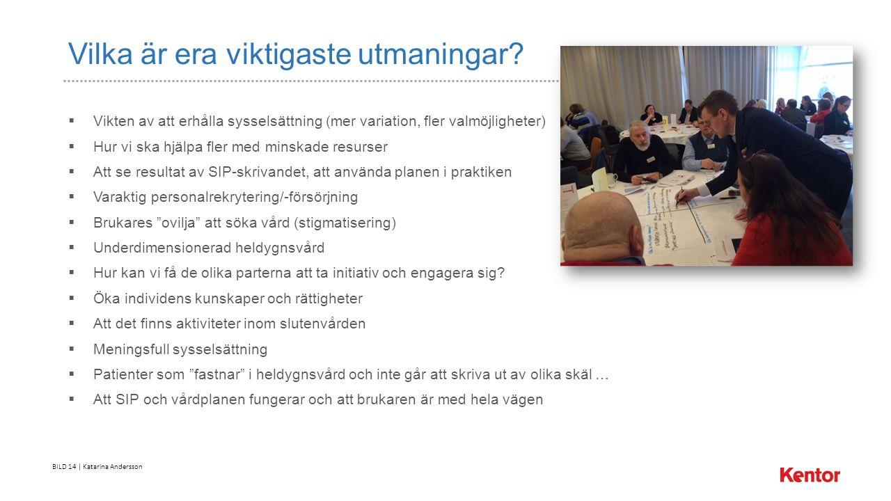 BILD 14 | Katarina Andersson Vilka är era viktigaste utmaningar.
