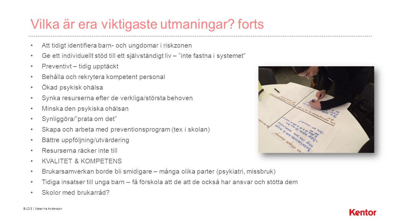 BILD 5 | Katarina Andersson Vilka är era viktigaste utmaningar.