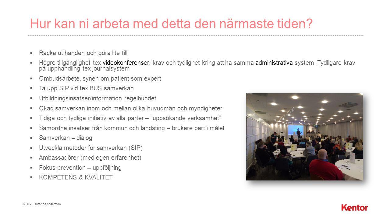 BILD 7 | Katarina Andersson Hur kan ni arbeta med detta den närmaste tiden.