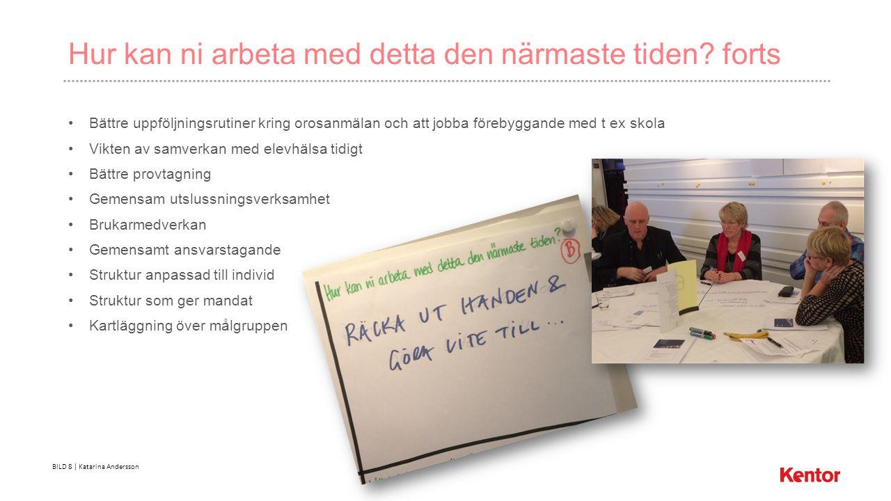 BILD 8 | Katarina Andersson Hur kan ni arbeta med detta den närmaste tiden.