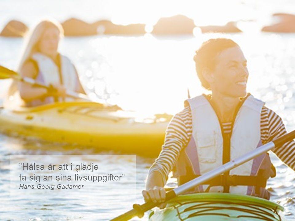 """""""Hälsa är att i glädje ta sig an sina livsuppgifter"""" Hans-Georg Gadamer"""
