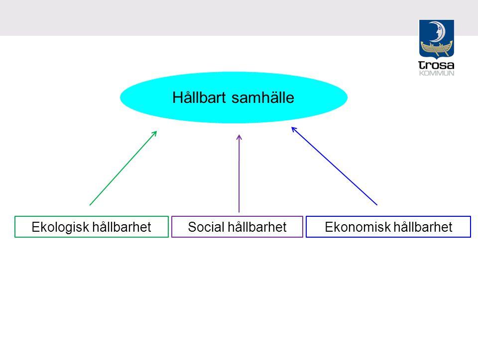 Ekonomisk hållbarhetEkologisk hållbarhetSocial hållbarhet Hållbart samhälle