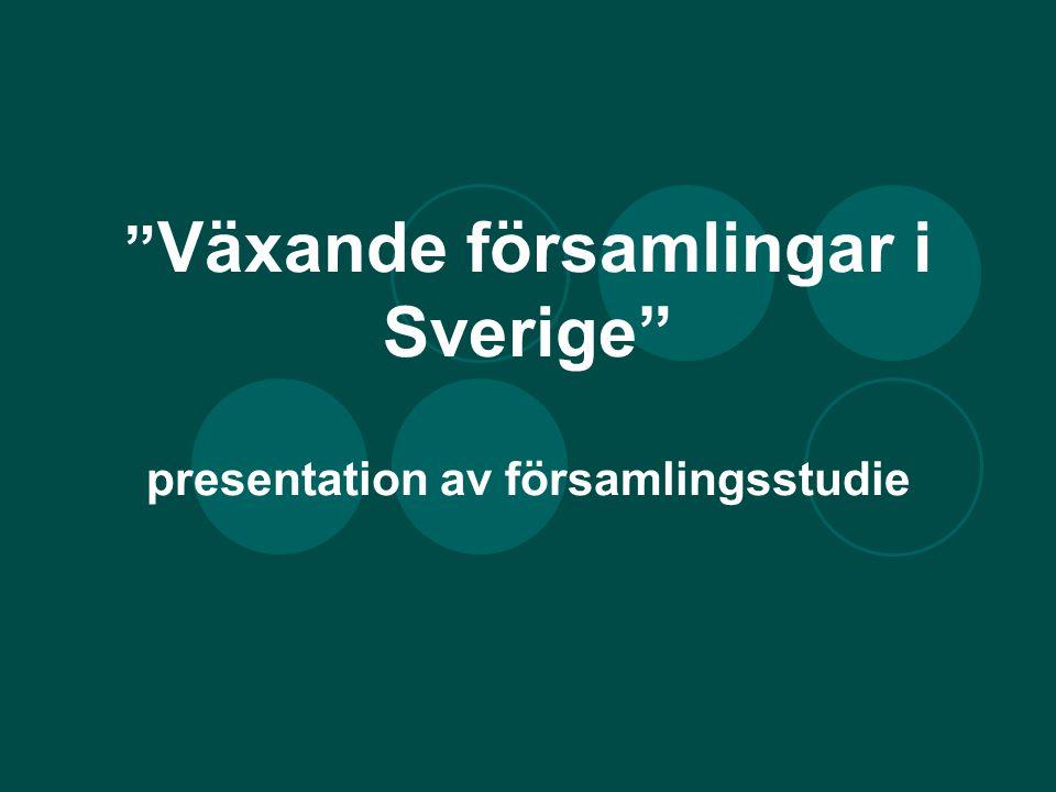 """"""" Växande församlingar i Sverige"""" presentation av församlingsstudie"""