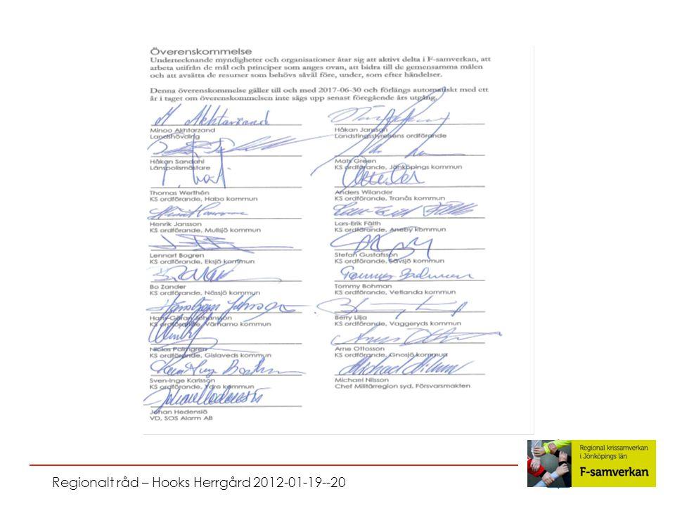 Regionalt råd – Hooks Herrgård 2012-01-19--20