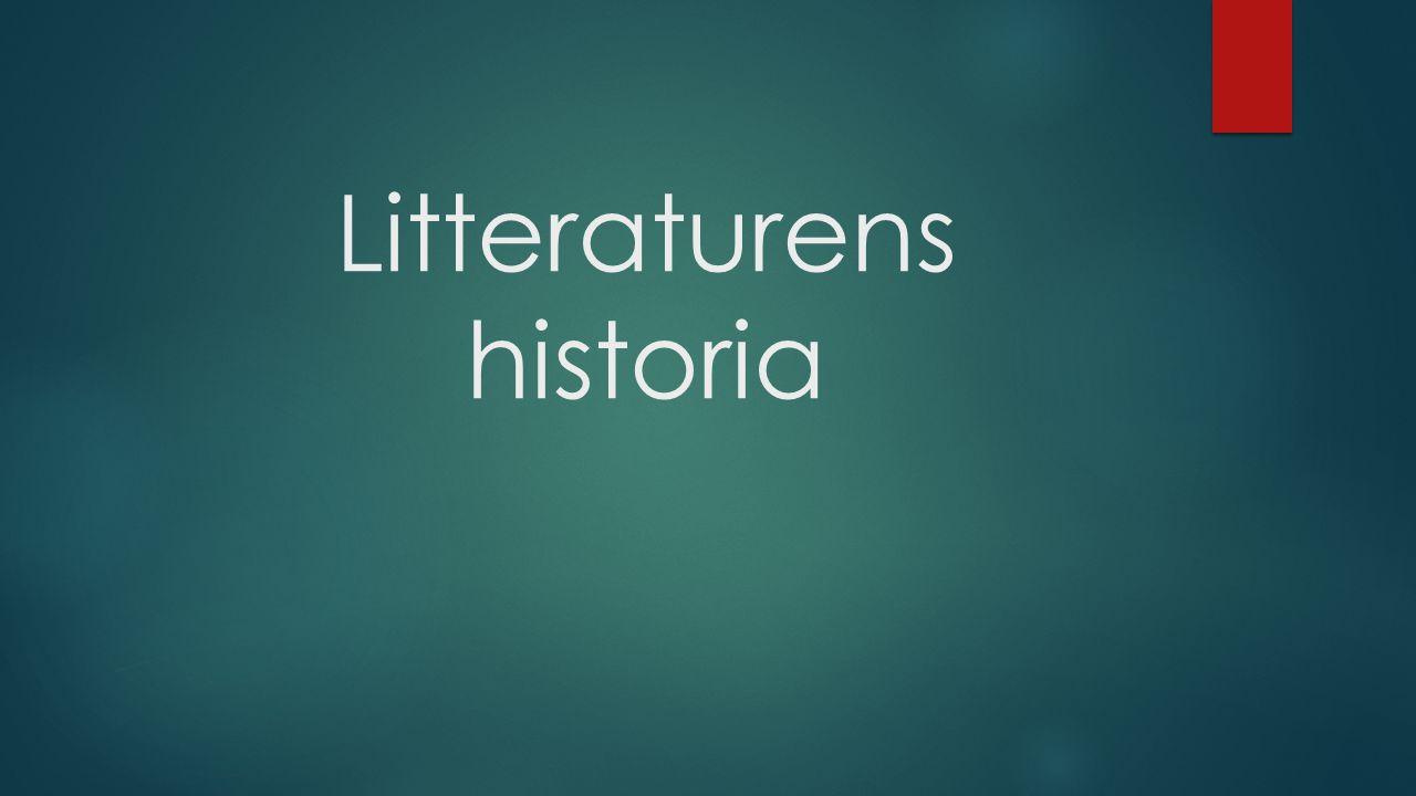 Litteraturens historia
