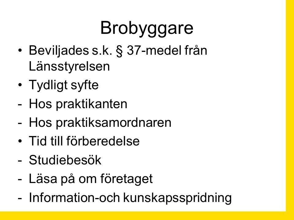Brobyggare Beviljades s.k.