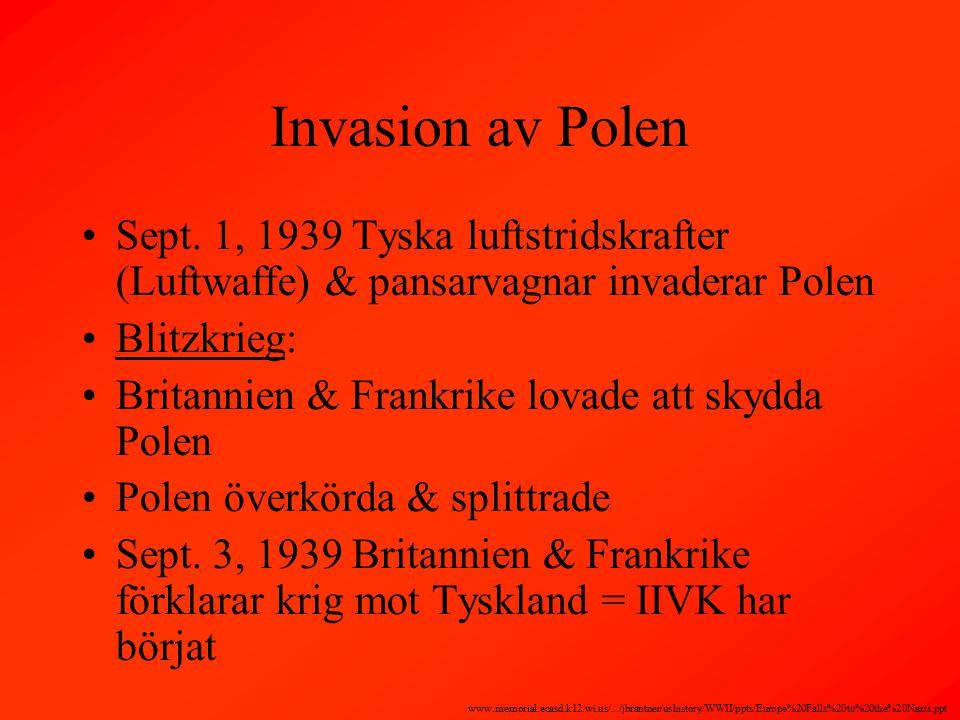 Invasion av Polen Sept.
