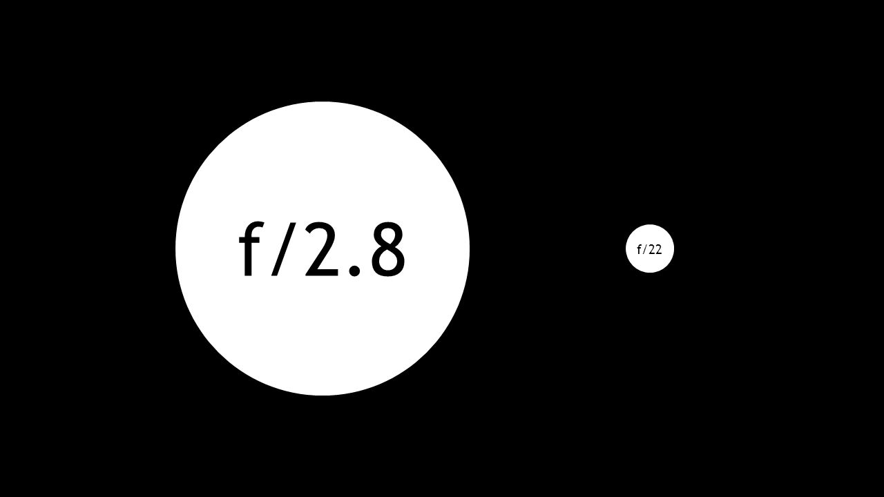 f/2.8 f/22