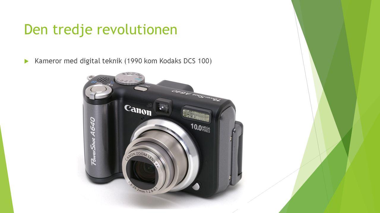 Den tredje revolutionen  Kameror med digital teknik (1990 kom Kodaks DCS 100)